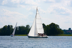 Yacht on the lake Royalty Free Stock Photography