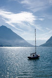 Yacht on lake Royalty Free Stock Photo