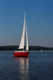 Yacht on lake Royalty Free Stock Photos