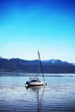 Yacht on lake geneva Stock Images