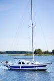 Yacht on Lake Plateliai, Lithuania Stock Photography