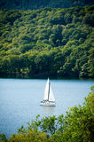 Yacht on Lake Windermere, English Lake District Stock Image