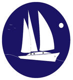 Yacht logo royalty free stock images