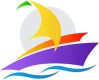 Yacht logo. A vector drawing represents yacht logo design vector illustration