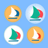 Yacht logos Stock Photography