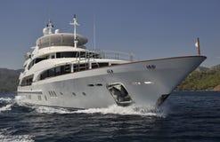 Yacht méga Photos libres de droits
