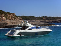 Yacht in Majorca Stock Images
