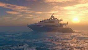 Yacht in mare Fotografia Stock Libera da Diritti