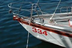 Yacht in mare Immagini Stock