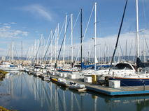 Yacht marina Royalty Free Stock Photos