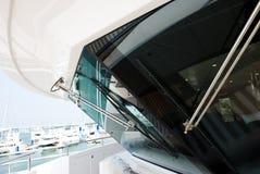 Yacht in a marina Royalty Free Stock Photos