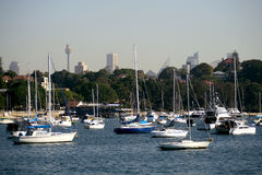 Yacht Marina. At Sydney Harbor, Australia Stock Photo