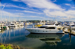 Yacht at the Marina Royalty Free Stock Image