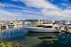 Yacht at the Marina Royalty Free Stock Image