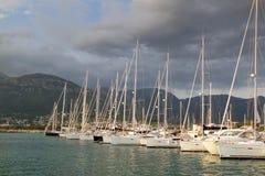 Yacht marina Stock Image