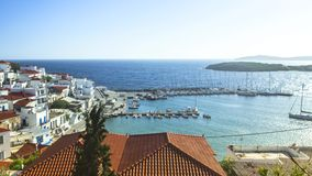 Yacht marina in the Aegean Sea. Yacht marina in the Aegean Sea, Greece stock video