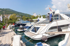 Yacht Marina Budva in Montenegro Lizenzfreie Stockfotografie