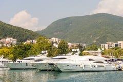 Yacht Marina in Budva, Montenegro Stock Images