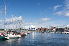 Yacht marina Hel Poland Royalty Free Stock Photography