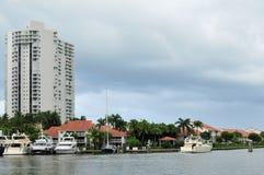 Yacht in marina Royalty Free Stock Photography
