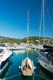 Yacht at marina Majorca Balearic islands Spain Royalty Free Stock Photography