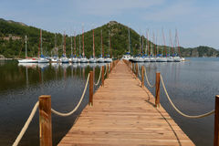Yacht marina in Marmaris, Turkey Stock Photos