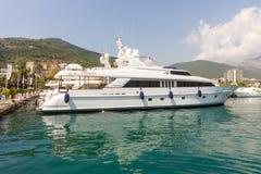 The Yacht Marina in Montenegro, Budva Stock Photo