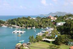 Castries marina, St Lucia Stock Image