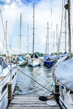 Yacht marina, Rio Dulce, Guatemala, Royalty Free Stock Photos