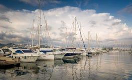 Yacht marina San-Antonio Stock Images