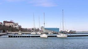 Yacht marina stock footage