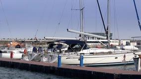 Yacht marina stock video footage