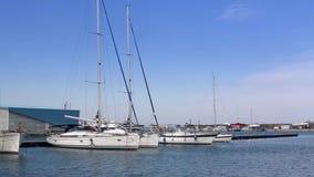 Yacht marina stock video
