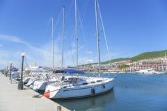 Yacht marina in St. Vlas, Bulgaria. Stock Photography