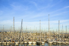 Yacht marina. Summertime vacation, luxury lifestyle. Stock Photo