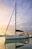 Yacht in a marina. Royalty Free Stock Images
