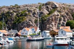 Yacht marina Sweden stock images