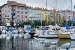 The yacht marina in Trieste Stock Photography