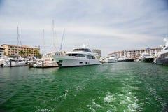 Yacht in Marina Vallarta. A yacht docked with other boats in Marina Vallarta, Mexico stock photo