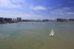 Yacht marina of wuyuan bay park  of amoy city Royalty Free Stock Photos