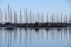 Yacht Marina. Yachts at anchor in marina Stock Photo