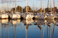 Yacht marina royalty free stock photography