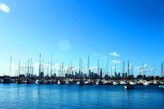 Yacht marinas. Royalty Free Stock Image