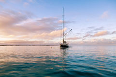 yAcht in a marine in Caribbean sea Stock Photography