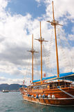 Yacht in Marmaris Stockbilder