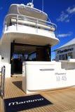 Yacht Martimo M45. Internationell båtmässa 2013 för fristadliten vik Arkivbilder