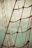 Yacht mast against blue summer sky. Yachting stock photography