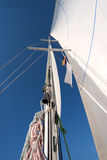 Yacht mast in blue sky Stock Photos
