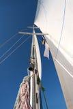 Yacht mast in blue sky Stock Photos