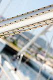 Yacht mast detail Royalty Free Stock Images